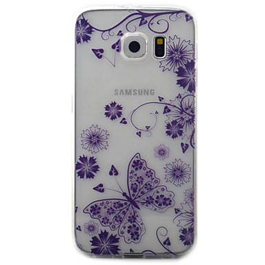 غطاء من أجل Samsung Galaxy S7 edge S7 شفاف نموذج غطاء خلفي فراشة ناعم TPU إلى S7 edge S7 S6 edge S6 S5