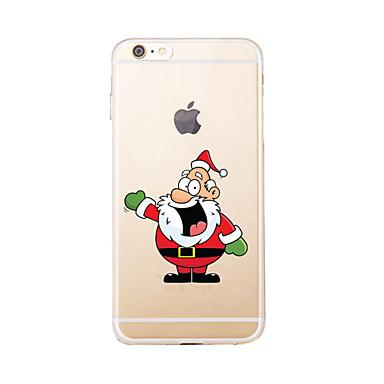 tok Για Apple Θήκη iPhone 5 iPhone 6 iPhone 7 Διαφανής Με σχέδια Πίσω Κάλυμμα Χριστούγεννα Μαλακή TPU για iPhone 7 Plus iPhone 7 iPhone