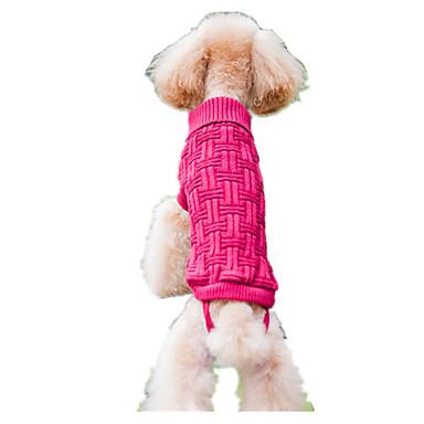 Koirat Neulepaidat Koiran vaatteet 봄/Syksy Raita Pidä Lämmin Pinkki