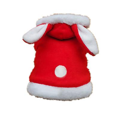 Kot Pies Kostiumy Bluzy z kapturem Ubrania dla psów Oddychający Urocza Motyw zwierzęcy Czerwony Kostium Dla zwierząt domowych
