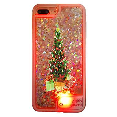 Pouzdro Uyumluluk Apple iPhone 6 iPhone 7 Plus iPhone 7 Akan Sıvı LED Yarı Saydam Arka Kapak Noel Yumuşak TPU için iPhone 7 Plus iPhone 7