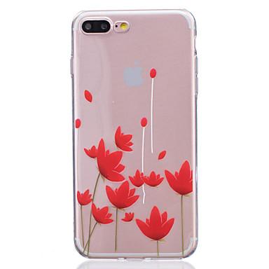 케이스 제품 Apple 아이폰5케이스 iPhone 6 iPhone 7 반투명 뒷면 커버 꽃장식 소프트 TPU 용 iPhone 7 Plus iPhone 7 iPhone 6s Plus iPhone 6s iPhone 6 Plus iPhone 6