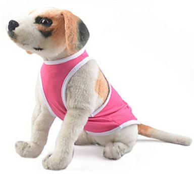 Pies Yelek Ubrania dla psów Codzienne Stały Różowy Kostium Dla zwierząt domowych