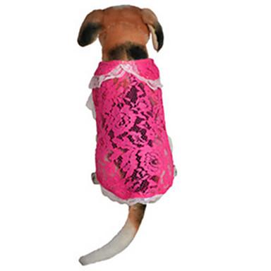 Koira Hameet Koiran vaatteet Rento/arki Pitsi Ruusu