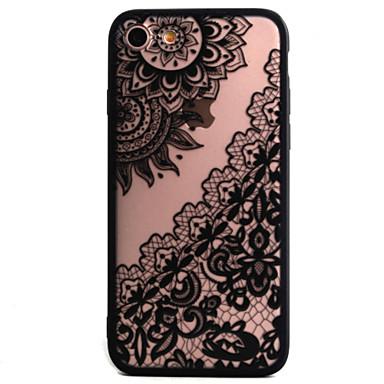 Käyttötarkoitus iPhone 7 kotelo iPhone 6 kotelo iPhone 5 kotelo kotelot kuoret Koristeltu Takakuori Etui Lace Printing Kova PC varten