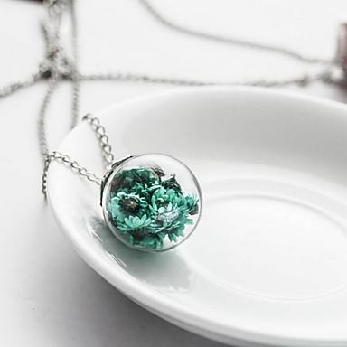 Γυναικεία Κρεμαστά Κολιέ Κοσμήματα Flower Shape Γυαλί Φλοράλ Χειροποίητο Κοσμήματα Για Καθημερινά Causal