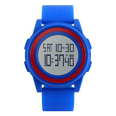 SKMEI للرجال ساعات فاشن ساعة رياضية رقمي المنبه رزنامه الكرونوغراف مقاوم للماء LED قضية ساعة التوقف PU فرقة كوول أسود الأبيض أزرق روز