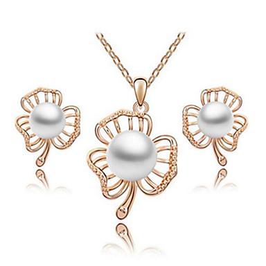 Damskie Zestawy biżuterii Kryształ Perła Perłowy Codzienny 1 Naszyjnik 1 parę kolczyków Biżuteria kostiumowa