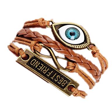 Γυναικεία Βραχιόλια Rock Πολυεπίπεδο Χειροποίητο αρχική Κοσμήματα Κράμα Love Μάτι Τίγρης Άπειρο Κοσμήματα Για Γενέθλια Καθημερινά 1pc