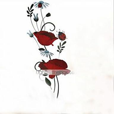 Vida Imóvel Romance Moda Floral Botânico Desenho Animado Adesivos de Parede Autocolantes de Aviões para Parede Autocolantes de Parede