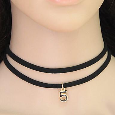 Γυναικεία Κολιέ Τσόκερ Κολάρα Κράμα Circle Shape Number Shape Μοντέρνα Μαύρο Κοσμήματα Causal 1pc
