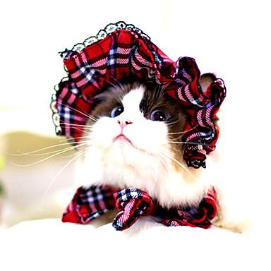 Kediler Köpekler Bandanalar & Şapkalar Köpek Giyimi Kış Yaz İlkbahar/Kış פסים Sevimli Klasik Cadılar Bayramı Siyah Kırmzı