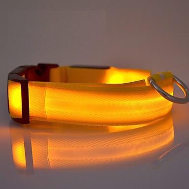 Κολάρα Φώτα LED Προσαρμόσιμη/Τηλεσκοπικό Επαναφορτιζόμενο Ηλεκτρονικό/Ηλεκτρικό Μονόχρωμο Νάιλον