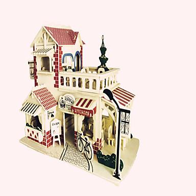 puzzle-uri Puzzle Lemn Blocuri de pereti DIY Jucarii Luptător Clădire celebru Arhitectura Chineză 1 Lemn CristalJucărie de Construit &