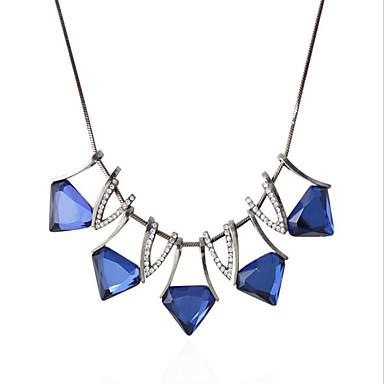 Γυναικεία Κρεμαστά Κολιέ Συνθετικό ζαφείρι Geometric Shape Triangle Shape Προσομειωμένο διαμάντι Κράμα Γεωμετρικό κοσμήματα πολυτελείας