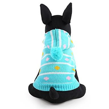 كلب البلوزات ملابس الكلاب مخطط أزرق زهري الاكريليك وألياف كوستيوم للحيوانات الأليفة للرجال للمرأة جميل الدفء موضة