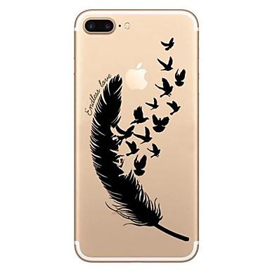 Varten Iskunkestävä Koristeltu Kuvio Etui Takakuori Etui Höyhen Pehmeä TPU varten AppleiPhone 7 Plus iPhone 7 iPhone 6s Plus/6 Plus