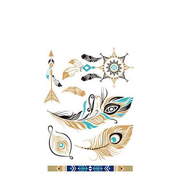 1-自主-Non Toxic / Alsó hát / 3D-Totem sorozat / Mások-21*15cm-Papír-Színes-Minta-Női / Férfi / Felnőtt / Tini-Lemosható festékek