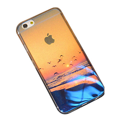 Coque Pour Apple iPhone 6 iPhone 6 Plus Motif Coque Paysage Flexible Silicone pour iPhone 7 Plus iPhone 7 iPhone 6s Plus iPhone 6s iPhone
