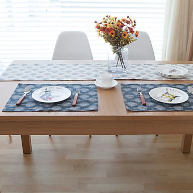 Dreptunghiular Imprimeu Tăblițe masă , Amestec Bumbac Material Hotelul masă Tabelul Dceoration