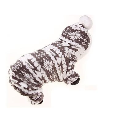 Köpek Kapüşonlu Giyecekler Tulumlar Köpek Giyimi Nefes Alabilir Sıcak Tutma Sporlar Çiçek/Botanik Gri Kostüm Evcil hayvanlar için