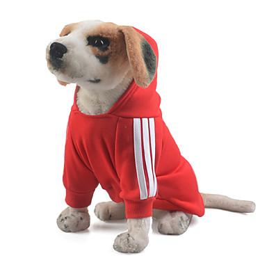 Pies Bluzy z kapturem / Kombinezon Ubrania dla psów Jendolity kolor Czerwony / Niebieski / Różowy Bawełna Kostium Dla zwierząt domowych