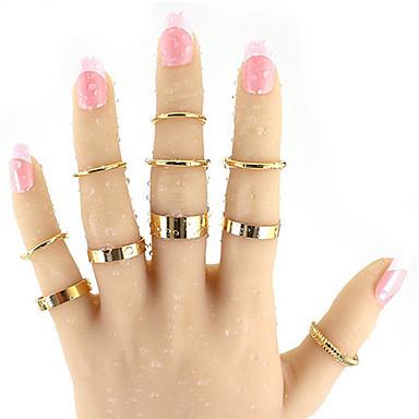 Δαχτυλίδι Κράμα Μοντέρνα Χρυσό Κοσμήματα Causal 1pc