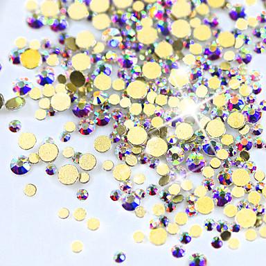 1440pcs/pack Biżuteria do paznokci Błyszczące / Glitter & Sparkle Kryształ / Luksus / Modny design Party / Wieczór / Na co dzień /