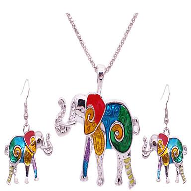 Naisten Korusetti Muoti Eurooppalainen Nahka Animal Shape Elephant 1 Kaulakoru 1 Pari korvakoruja Käyttötarkoitus Party Päivittäin