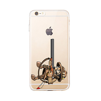 Için Şeffaf / Temalı Pouzdro Arka Kılıf Pouzdro Oynanan Apple Logosu Yumuşak TPU için AppleiPhone 7 Plus / iPhone 7 / iPhone 6s Plus/6