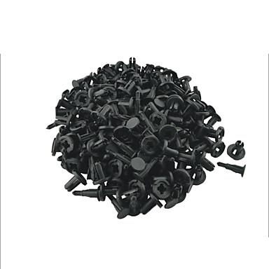 K066 100 Stück Auto Kunststoffschraube Platte drücken Verschluss Niet Stoßstange Clips