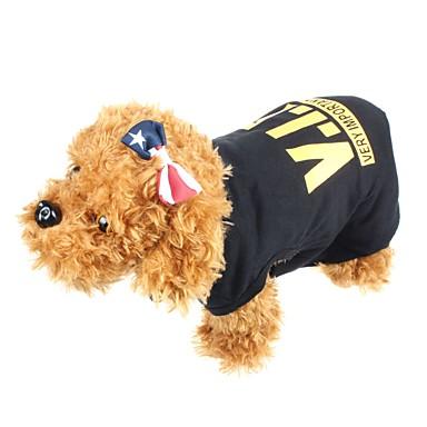 Kediler Köpekler Tişört Köpek Giyimi Yaz İlkbahar/Kış Harf & Sayı Moda Günlük/Sade Siyah Turuncu Sarı