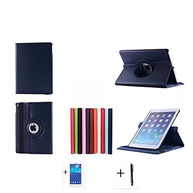 2015 nieuwe hoogwaardige roterende serie standaard lederen tas voor Apple iPad 6 ipad AIR2 geval + screen protector + stylus