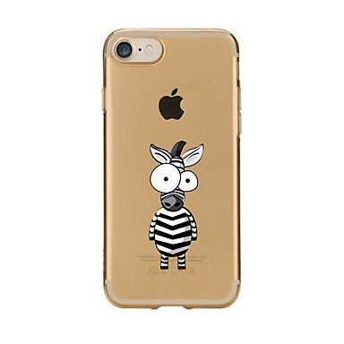 Pentru Transparent / Model Maska Carcasă Spate Maska Animal Moale TPU pentru AppleiPhone 7 Plus / iPhone 7 / iPhone 6s Plus/6 Plus /
