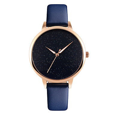 SKMEI pentru Doamne Ceas Elegant Ceas La Modă Ceas de Mână Quartz Rezistent la Apă Piele Bandă Cool Casual Negru Alb Albastru Roșu Pink