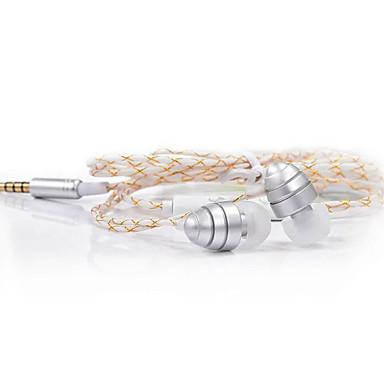 JKR JKR-302 في الاذن سلكي Headphones ديناميكي Aluminum Alloy الهاتف المحمول سماعة مع ميكريفون سماعة