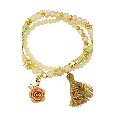 Γυναικεία Βραχιόλια Strand Φιλία Κοσμήματα Τυρκουάζ Cross Shape Κοσμήματα Μαύρο Μπεζ Μπλε Ροζ Κοσμήματα Για Causal 1pc