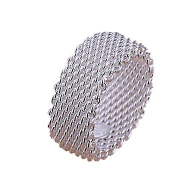 Kadın's Katmanlı Band Yüzük - Som Gümüş, Gümüş Aşk Çoklu Katman 6 / 7 / 8 Gümüş Uyumluluk Düğün / Parti / Hediye