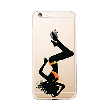 Varten Läpinäkyvä / Kuvio Etui Takakuori Etui Seksikäs nainen Pehmeä TPU varten AppleiPhone 7 Plus / iPhone 7 / iPhone 6s Plus/6 Plus /