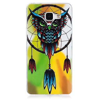 Etui Käyttötarkoitus Samsung Galaxy A5(2016) A3(2016) Hehkuu pimeässä IMD Takakuori Pöllö Pehmeä TPU varten A5(2016) A3(2016)