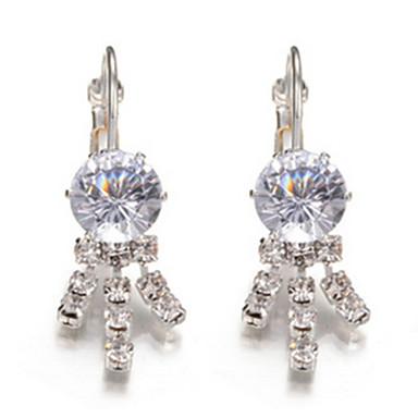 Damskie Kolczyki koła Kryształ Luksusowy Kutas Imitacja diamentu Stop Geometric Shape Biżuteria Impreza