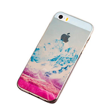 Για Θήκη iPhone 5 Εξαιρετικά λεπτή / Ημιδιαφανές / Με σχέδια tok Πίσω Κάλυμμα tok Τοπίο Μαλακή TPU iPhone SE/5s/5