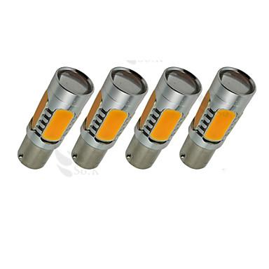 SO.K 4pçs 1156 / BA15S (1156) Lâmpadas 7W LED de Alto Rendimento 800lm LED Lâmpada de Seta For Universal