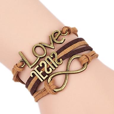 Γυναικεία Βραχιόλια Love Πολυεπίπεδο Χειροποίητο αρχική Κοσμήματα Κράμα Love Άπειρο Κοσμήματα Για Γενέθλια Καθημερινά 1pc