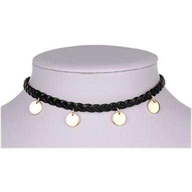 Γυναικεία Κολιέ Τσόκερ Κρεμαστά Κολιέ Circle Shape Round Shape Δερμάτινο Κύκλος Κοσμήματα Για Καθημερινά Causal