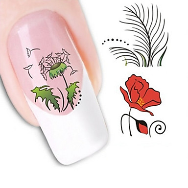 1 Nail Art Samoprzylepna Folie transferowe Woda Kosmetyki do makijażu Nail Art Design