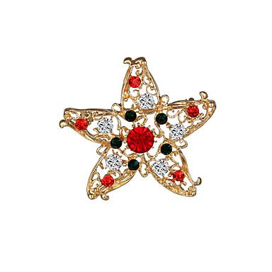 Dziewczęce Chłopcy Broszki sztuczna Diament Chrismas Gold Biżuteria Impreza Codzienny Prezenty bożonarodzeniowe