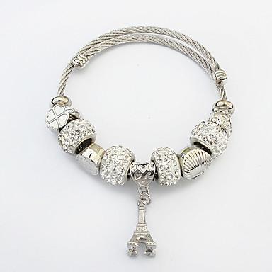 Naisten Amuletti-rannekorut Muoti Eurooppalainen pukukorut Metalliseos Torni Korut Käyttötarkoitus Kausaliteetti