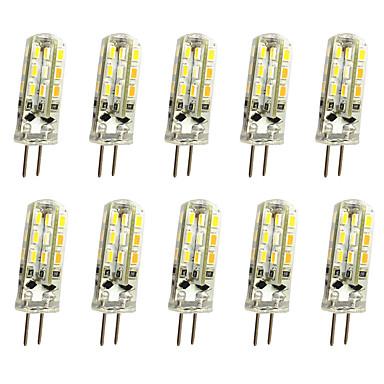 10pcs 1W 120 lm G4 LED Bi-Pin lamput T 24LED ledit SMD 3014 Koristeltu Lämmin valkoinen Kylmä valkoinen DC 12V