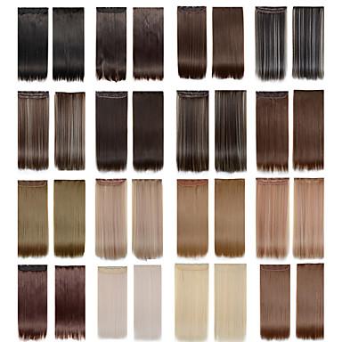 5 clips lange rechte kleur 4/613 synthetisch haar clip in hair extensions voor dames meer kleuren beschikbaar